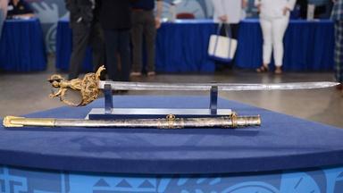 Appraisal: 1864 Civil War Statue-hilt Presentation Sword
