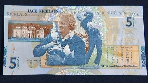 Antiques Roadshow -- S21 Ep3: Appraisal: 2005 Jack Nicklaus-signed Five Pound Not