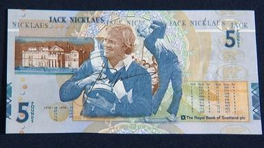 Appraisal: 2005 Jack Nicklaus-signed Five Pound Note