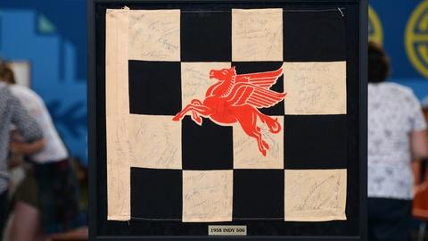 Antiques Roadshow -- S21 Ep4: Appraisal: 1958 Signed Indianapolis 500 Racing Flag