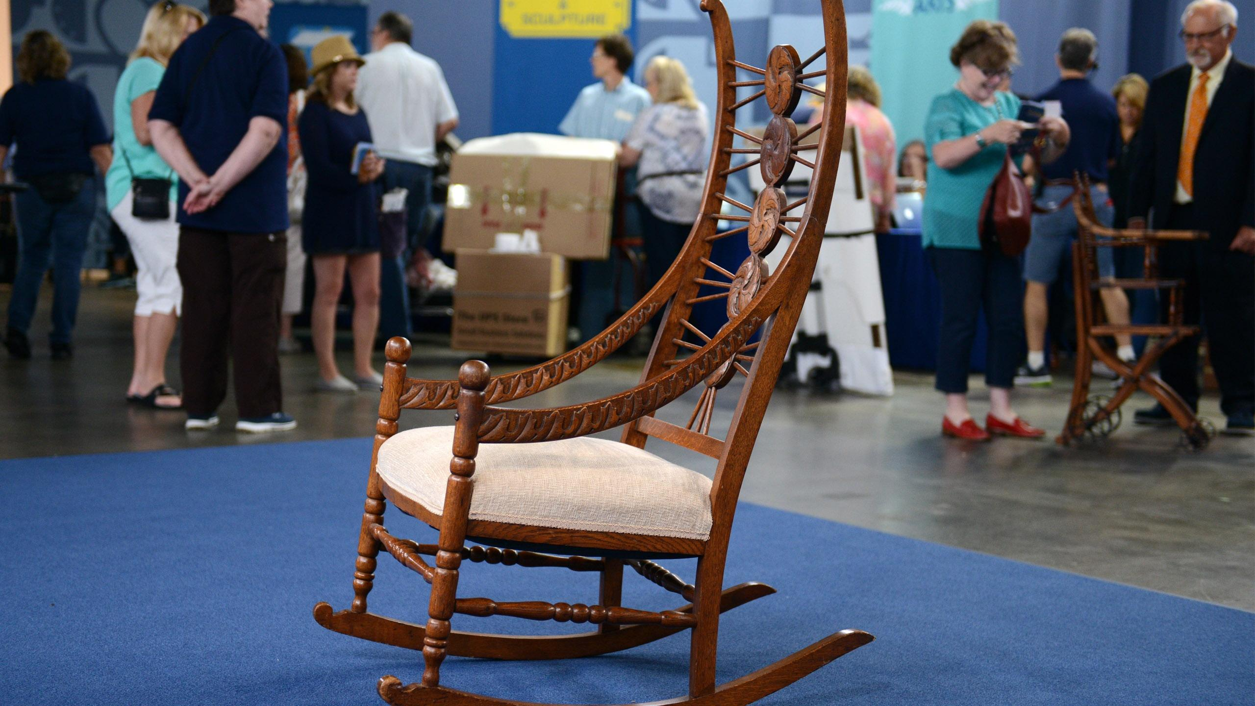 Marvelous Appraisal American Oak Rocking Chair Ca 1890 Pabps2019 Chair Design Images Pabps2019Com