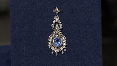 Appraisal: Sapphire, Pearl & Diamond Pendant, ca. 1920