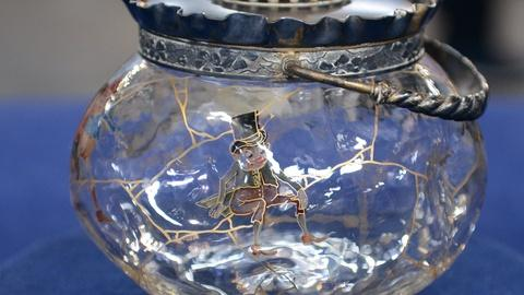 "Antiques Roadshow -- Appraisal: Mt. Washington ""Napoli"" Biscuit Jar, ca. 1895"