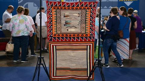 "Antiques Roadshow -- S21 Ep5: Appraisal: Navajo ""Sunday"" Saddle Blanket, ca. 1915"