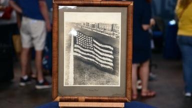 "Appraisal: 1917 Mayhart Studio ""A Living Flag"" Photograph"