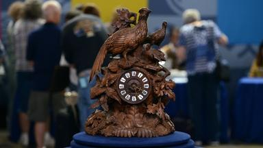 Appraisal: Black Forest-style French Carved Clock, ca. 1880