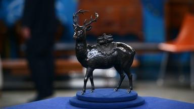 Appraisal: Bronze Deer Censer Attributed to Kuniharu, ca. 18