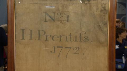 Antiques Roadshow -- S21 Ep5: Appraisal: 1772 Fire Salvage Bag