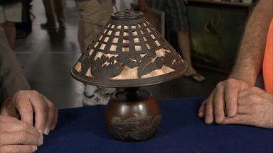Appraisal: Heintz Art Metal Lamp, ca. 1912