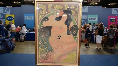 """S21 E6: Appraisal: 1898 Alphonse Mucha """"Job"""" Poster"""