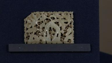Appraisal: Chinese Carved Jade Belt Plaque