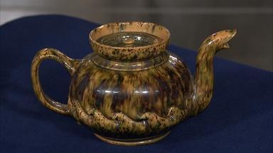 Appraisal: George Ohr Teapot, ca. 1905