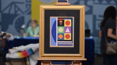 Appraisal: 1950 Auguste Herbin Abstract Gouache