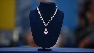 Appraisal: Pink Topaz, Diamond & Pearl Necklace, ca. 1910
