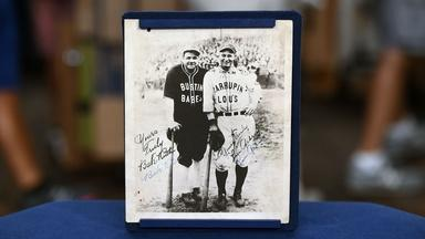 Appraisal: 1927 Babe Ruth & Lou Gehrig-signed Tour Photo