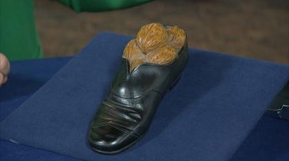 Antiques Roadshow -- Appraisal: Black Forest Carved Shoe Inkwell, ca. 1900