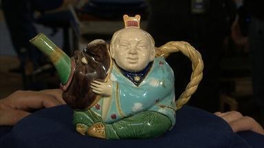 Appraisal: 1874 Mintons Majolica Teapot