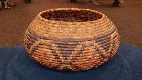 Antiques Roadshow -- S21: Web Appraisal: Cahuilla Mission Diamondback Basket, ca.