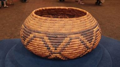 Web Appraisal: Cahuilla Mission Diamondback Basket, ca. 1930