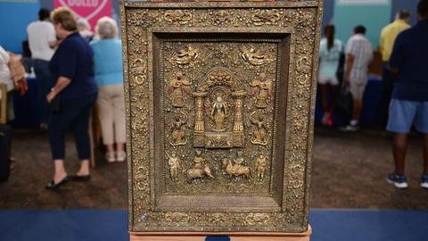 Antiques Roadshow -- S21 Ep8: Appraisal: Nepalese Copper Repoussé Votive Plaque,