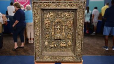 Appraisal: Nepalese Copper Repoussé Votive Plaque, ca. 1880