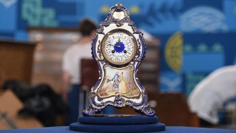 Antiques Roadshow -- S21 Ep8: Appraisal: French China Mantel Clock, ca. 1900