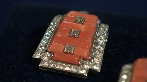 Antiques Roadshow -- S21 Ep8: Appraisal: Cartier Art Deco Coral & Diamond Lapel C