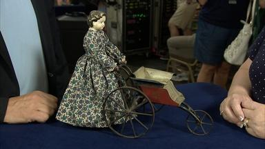 Appraisal: Brown Doll & Carriage, ca. 1970