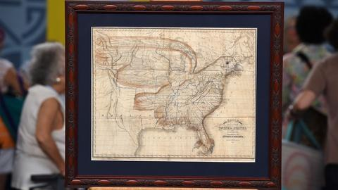 Antiques Roadshow -- S21 Ep9: Appraisal: 1833 Churchman Eagle Map of the United S