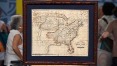 Appraisal: 1833 Churchman Eagle Map of the United States