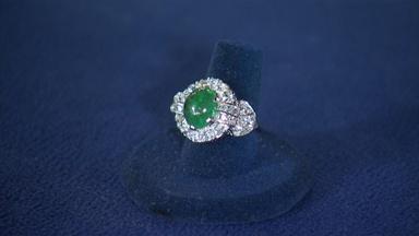 Appraisal: Emerald & Diamond Ring, ca. 1935