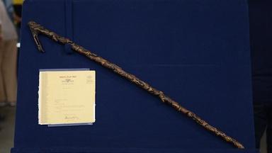 Appraisal: 1933 Carved Folk Art Cane