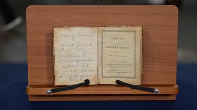 """Appraisal: 1844 """"Bellows Falls"""" Hymnal Book"""