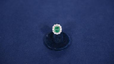 Appraisal: Emerald & Diamond Ring, ca. 1900