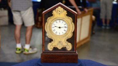 Appraisal: C. Jerome Foil-front Mantel Clock, ca. 1845