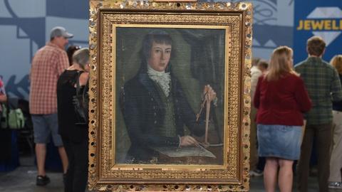 Antiques Roadshow -- S21 Ep11: Appraisal: Folk Art American Sea Captain Portrait,