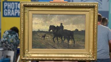 Appraisal: Frans van Leemputten Oil Painting, ca. 1875