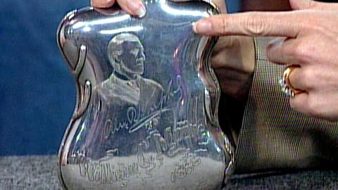 Antiques Roadshow -- S16 Ep24: Appraisal: 1888 Silver Whiskey Flask
