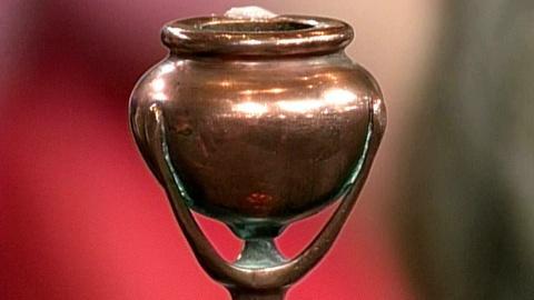 Antiques Roadshow -- S16 Ep26: Appraisal: Tiffany Studios Bronze Candlestick, ca.