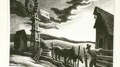 "Antiques Roadshow -- S16 Ep26: Appraisal: Thomas Hart Benton ""Arkansas Evening"" L"