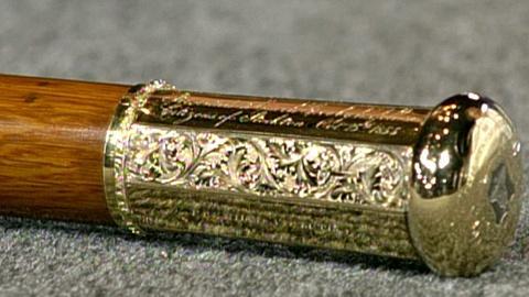 Antiques Roadshow -- S16 Ep26: Appraisal: 1855 Gold Presentation Cane