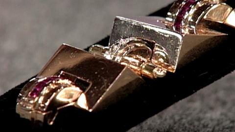 Antiques Roadshow -- S16 Ep27: Appraisal: Gold, Diamond & Ruby Bracelet, ca. 1945