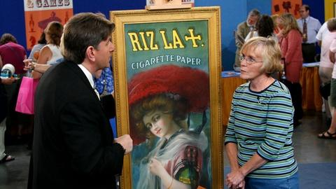 Antiques Roadshow -- S11 Ep13: Appraisal: Self-framed Riz La Tin Advertisement Si
