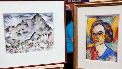 Antiques Roadshow -- S16 Ep21: Appraisal: Polia Pillin Paintings & Plate
