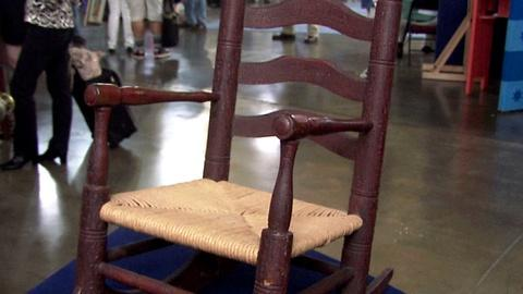 Antiques Roadshow -- S16 Ep21: Appraisal: Child's Slat Back Rocking Chair, ca. 17