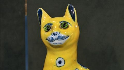 Antiques Roadshow -- S16 Ep19: Appraisal: Émile Gallé Faience Cat, ca. 1890