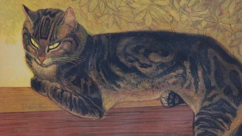 "Antiques Roadshow -- S16 Ep19: Appraisal: 1909 Theophile Steinlen ""Summer Cat"" Li"