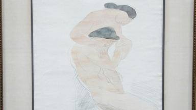 Appraisal: Unauthenticated Auguste Rodin Drawing, ca. 1900