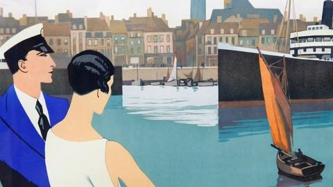 Antiques Roadshow -- S16 Ep20: Appraisal: Roger Broders Dunkerque Travel Poster,
