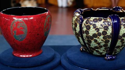 Antiques Roadshow -- S17 Ep1: Appraisal: Rookwood & French Pottery Jardinières